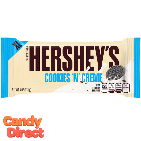 Cookies N Creme Hershey's Bar XL - 12ct