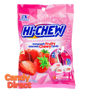 Hi-Chew Peg Bag Strawberry 3.53oz - 6ct