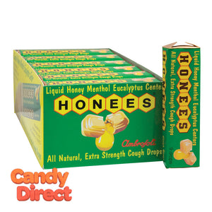 Honees Cough Drops Eucalyptus Mint 1.6oz - 24ct