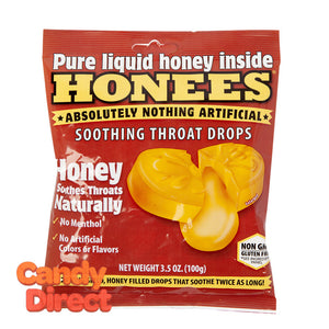 Honees Throat Drops Honey Soothing 20 Pc Peg Bag - 12ct