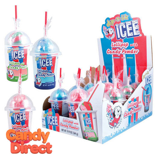 ICEE Dip-n-Lik Lollipop with Candy Powder - 12ct