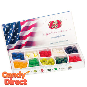 Jelly Belly American Flag Gift Box 10 Flavors - 12ct