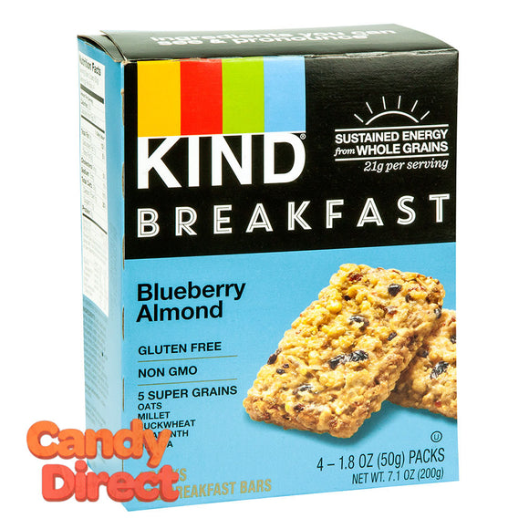 Kind Blueberry Almond Breakfast Bar 4 Pc 7.1oz Box - 8ct