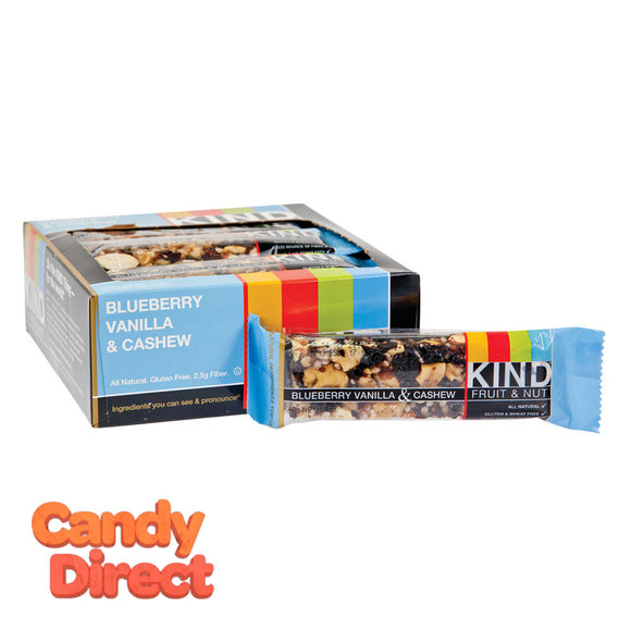 Kind Blueberry Vanilla And Cashew 1.4oz Fruit And Nut Bar - 12ct