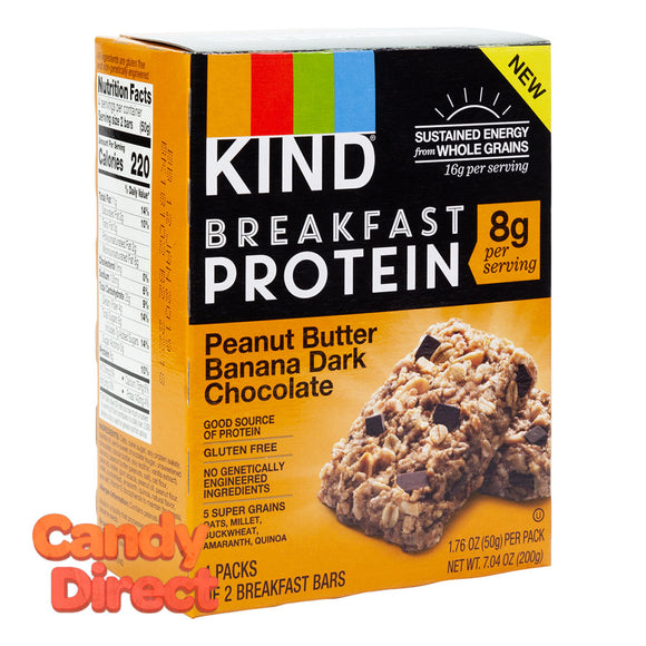 Kind Breakfast Protein Peanut Butter Banana Dark Chocolate Bar 7.04oz Box - 8ct