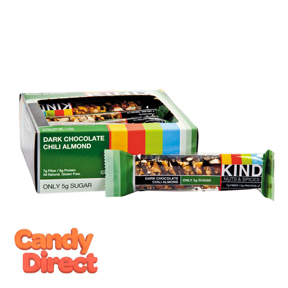 Kind Dark Chocolate Chili Almond 1.4oz Bar - 12ct