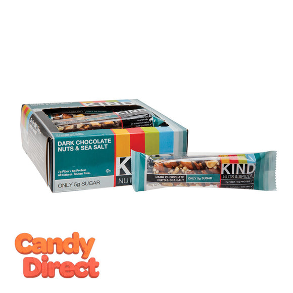 Kind Dark Chocolate Nuts And Sea Salt 1.4oz Bar - 12ct