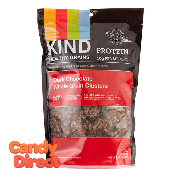 Kind Grains Granola Bag Dark Chocolate Whole Gran Clusters 11oz - 6ct