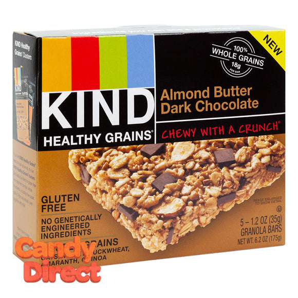 Kind Healthy Grains Almond Butter Dark Chocolate Bar 6.2oz Box - 8ct