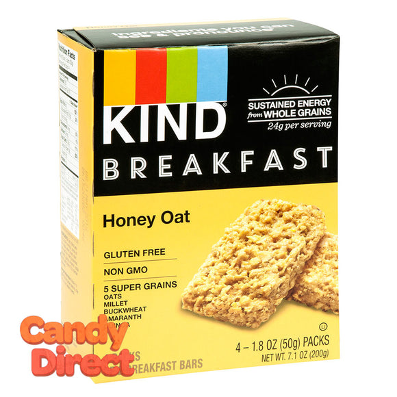 Kind Honey Oat Breakfast Bar 4 Pc 7.1oz Box - 8ct