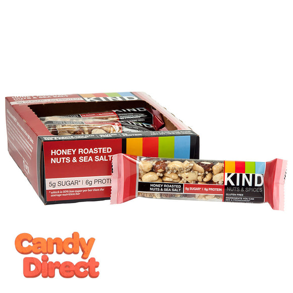 Kind Honey Roasted Nuts And Sea Salt 1.4oz Bar - 12ct