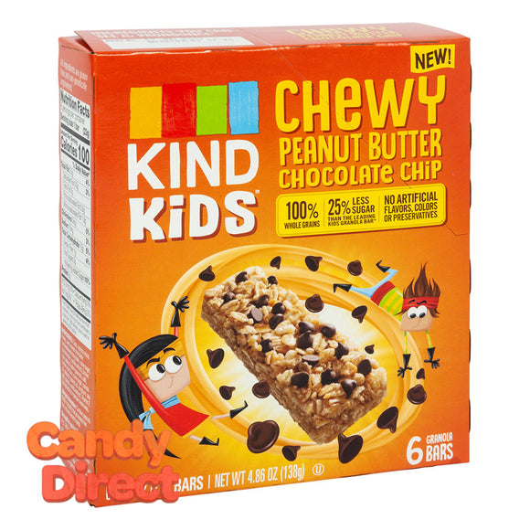 Kind Kids Chewy Peanut Butter Chocolate Chip Bar 4.86oz Box - 8ct