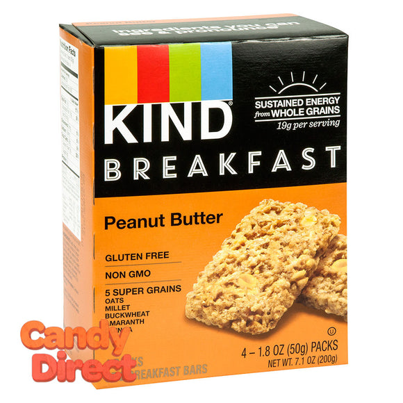 Kind Peanut Butter Breakfast Bar 4 Pc 7.1oz Box - 8ct