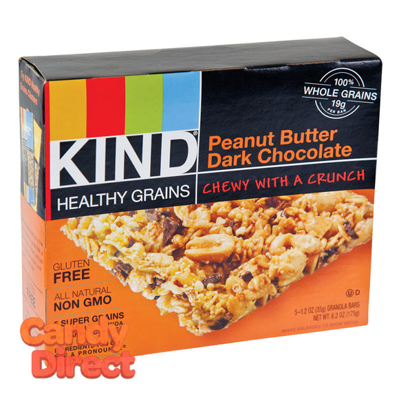 Kind Peanut Butter Dark Chocolate Granola Bars 5-Piece 6.2oz Box - 8ct