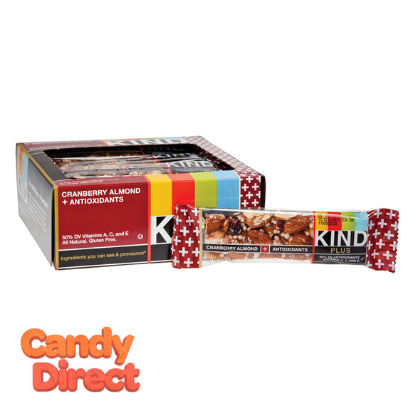Kind Plus Cranberry Almond 1.4oz Bar - 12ct