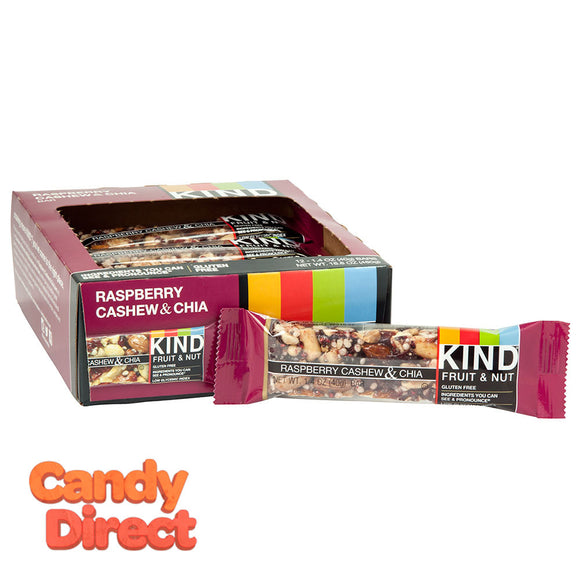 Kind Raspberry Cashew And Chia 1.4oz Bar - 12ct