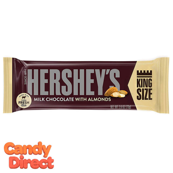 King Size Milk Chocolate Hershey's Almonds Bar - 18ct