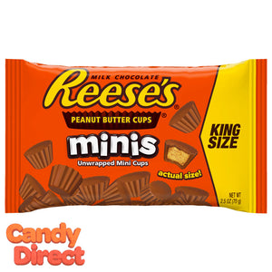 King Size Reese's Mini Unwrapped Peanut Butter Cups - 16ct