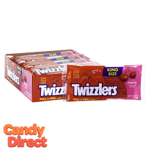 King Size Twizzlers Pull & Peel Cherry - 15ct