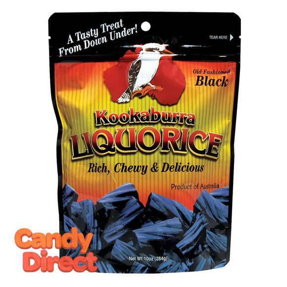Kookaburra Black Licorice - 10oz bags - 12ct