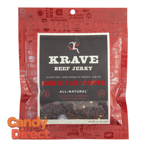 Krave Garlic Chili Pepper Beef Jerky 2.7oz Bag - 8ct