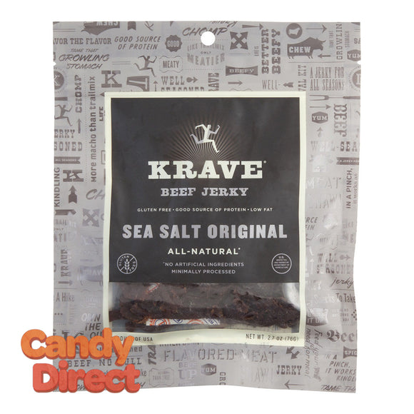 Krave Sea Salt Beef Jerky 2.7oz Bag - 8ct