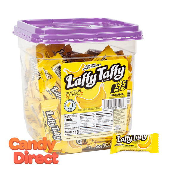 Laffy Mini Banana Tub Taffy - 145ct