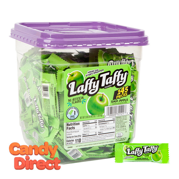 Laffy Mini Sour Apple Tub Taffy - 145ct