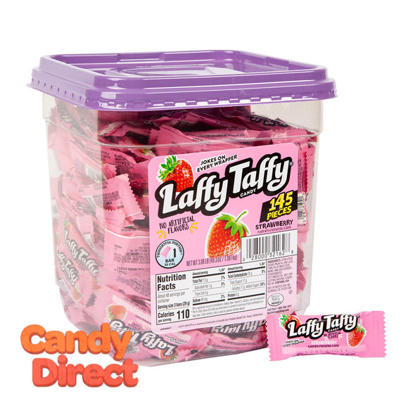 Laffy Mini Strawberry Tub Taffy - 145ct