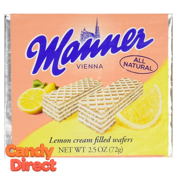 Lemon Manner Cream Wafers - 12ct