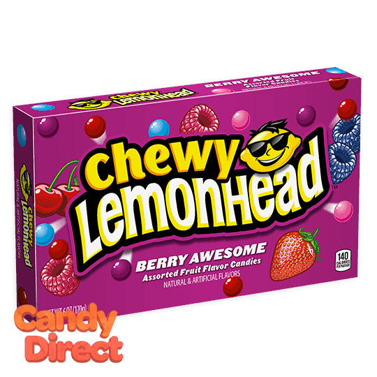 Lemonhead Chewy Berry Awesome Theater Box - 12ct