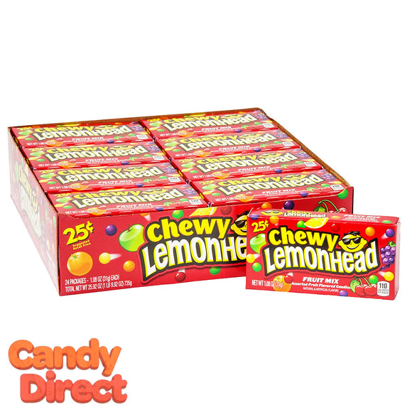 Lemonhead Chewy Fruit Mix - 24ct