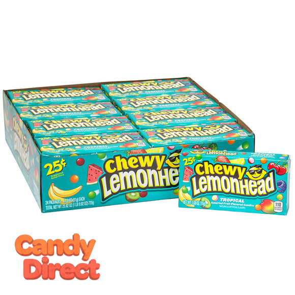 Lemonhead Chewy Tropical Preprice 0.8oz Box - 24ct