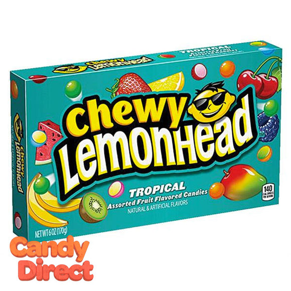 Lemonhead Chewy Tropical Theater Box - 12ct