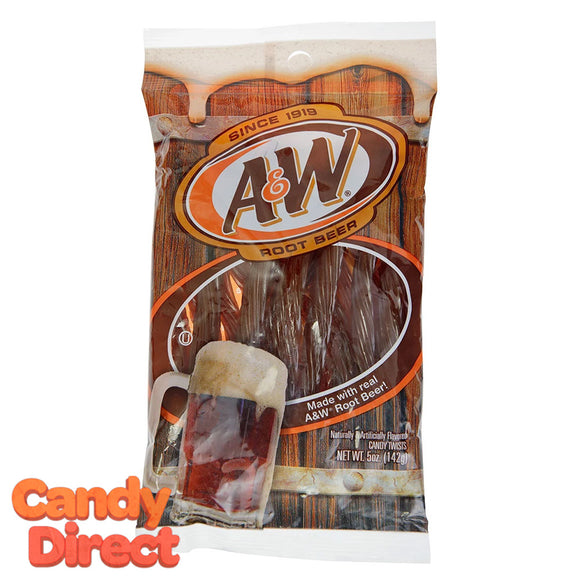 Licorice Twists A&W Root Beer Peg Bags - 6ct