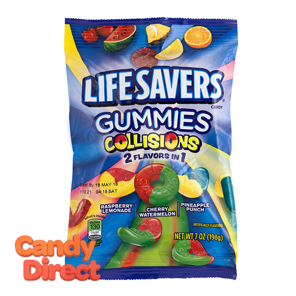 Lifesavers Collisions Gummies 7oz Peg Bag - 12ct