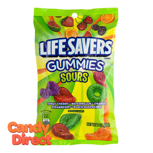 Lifesavers Sours Gummies 7oz Peg Bag - 12ct