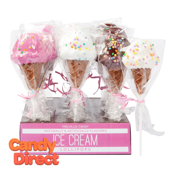 Lollipop Ice Cream Cone 1oz - 24ct