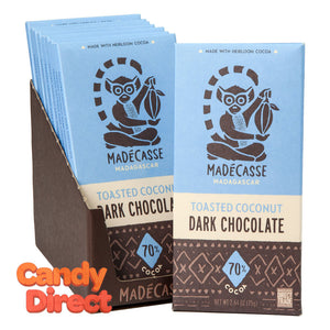 Madecasse Toasted Coconut Dark Chocolate 2.64oz Bar - 10ct