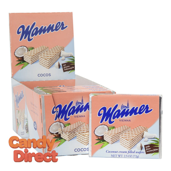 Manner Wafers Coconut 2.54oz - 12ct