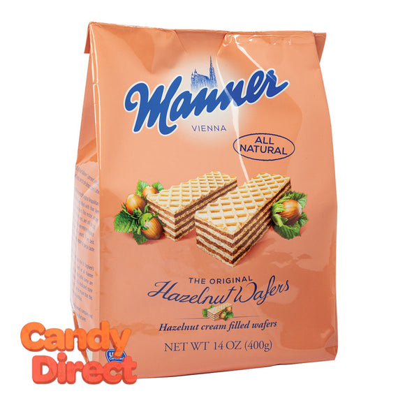 Manner Wafers Milk Hazelnut 14oz Bag - 10ct