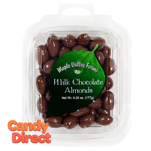 Maple Valley Farms Almonds Milk Chocolate 6.25oz - 6ct
