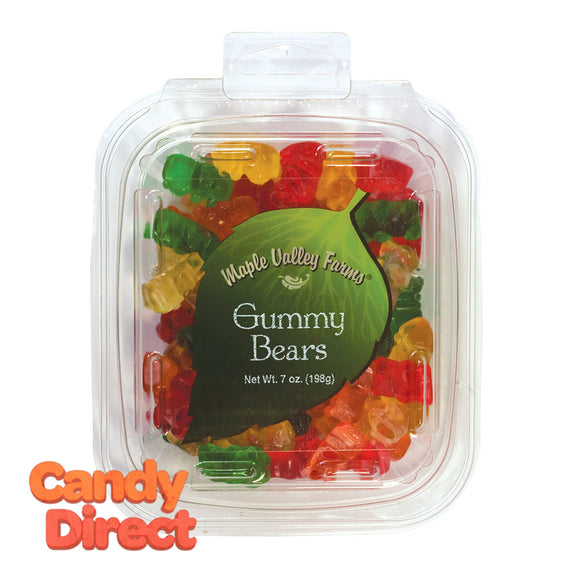 Maple Valley Farms Bears Gummy 7oz Peg Tub - 6ct