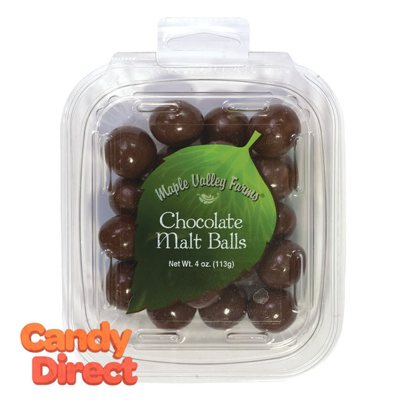 Maple Valley Farms Malt Balls Chocolate 4oz Peg Tub - 6ct