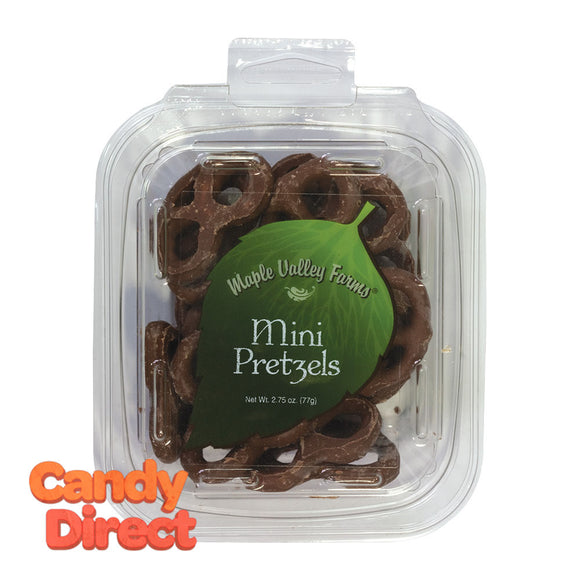 Maple Valley Farms Pretzels Mini Chocolate 2.75oz Peg Tub - 6ct