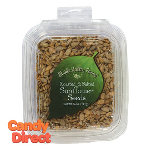 Maple Valley Farms Sunflower Seeds Roasted And Salted 5oz Peg Tub - 6ct