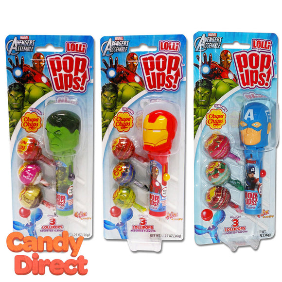 Marvel Avengers Lolli Pop-Ups Toys - 6ct