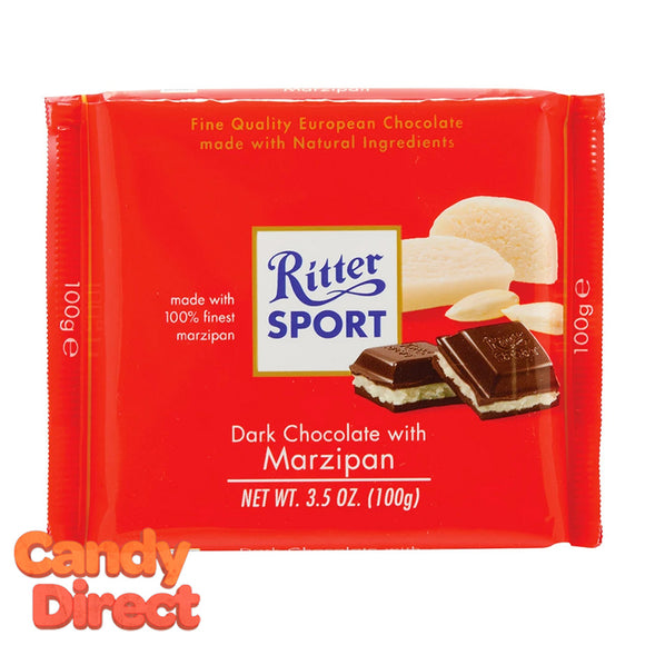 Marzipan Ritter Sport Dark Chocolate - 12ct