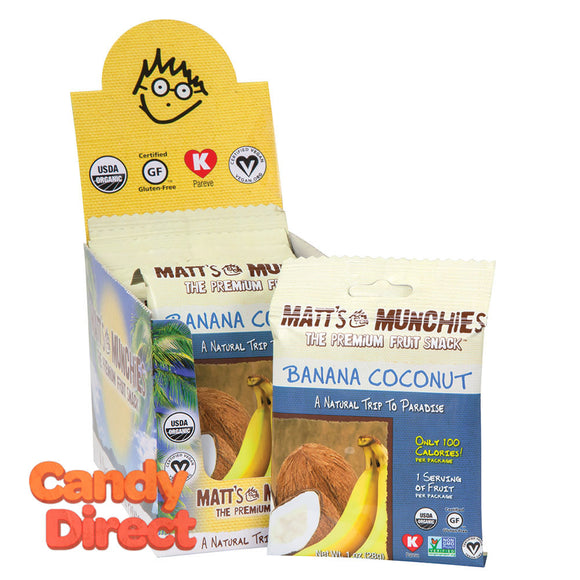 Matt's Banana Coconut Munchies 1oz - 12ct