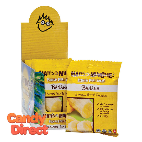 Matt's Banana Munchies 1oz - 12ct